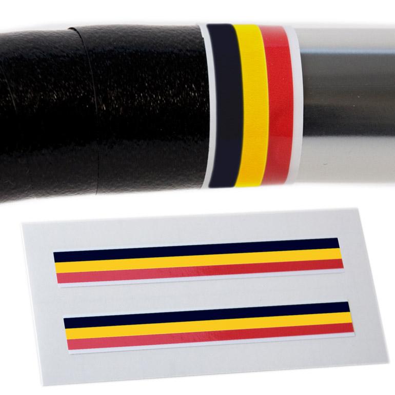 Velobitz vintage Belgique Drapeau Guidon De Finition Bande