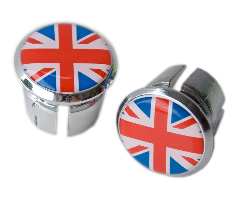 tapones UK United Kingdom Flag Handlebar End Plugs Bar Caps lenkerstopfen